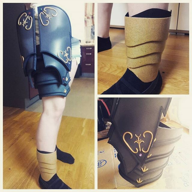 Hey guys! (^0^)/ Only 7 days left until gamescom2015 and there is still a lot to do on Demonic Tyrael -.-' Today I did all the ornaments on the thigh armor and started with the shoes ;D  #armor #hots #heroesofthestorm #tyrael #tyraelcosplay #blizzardcosplay #blizzard #blizzard2015 #gamescom #gamescom2015 #demonictyrael #heroes #diablo #diablo3 #games #game #worbla #evafoam #progress #hobby #happy #work #cosplaylife #cosplayer #cosplay #fun #aninite #viecc #viennacomiccon #costume