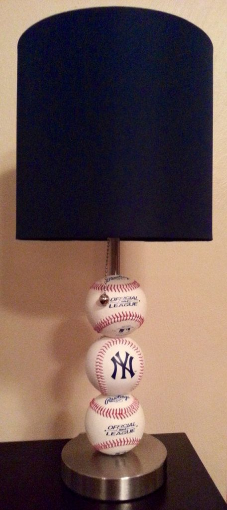 New York Yankees Fan MLB Baseball Lamp by ChristyVsCreations, $74.00