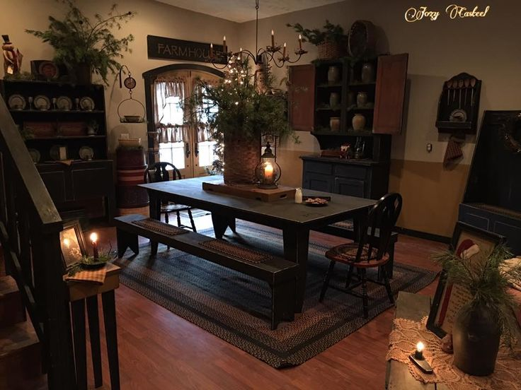 17 Best Ideas About Christmas Dining Rooms On Pinterest: 17 Best Ideas About Primitive Dining Rooms On Pinterest