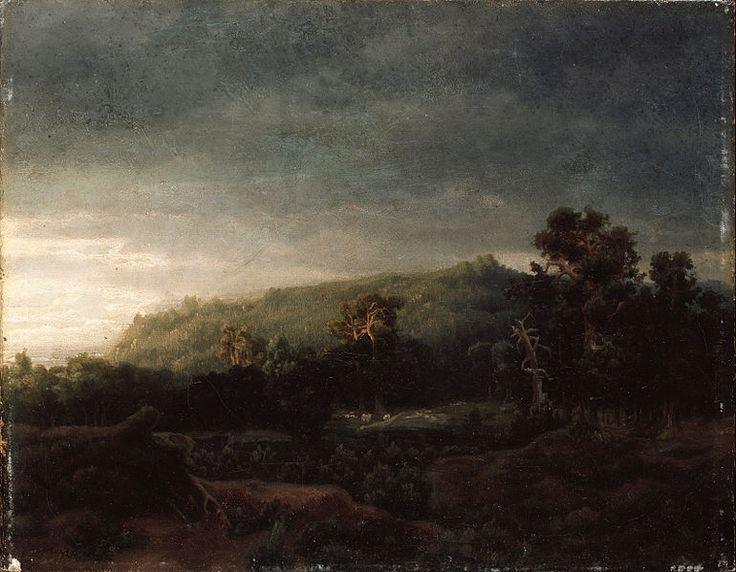 """""""A Forest"""" - Lars Hertervig (1856)"""