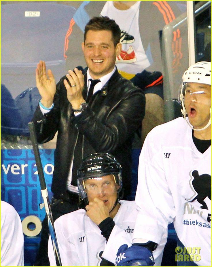 Michael Buble: Bieksa's Buddies Charity Hockey Game October 2012.