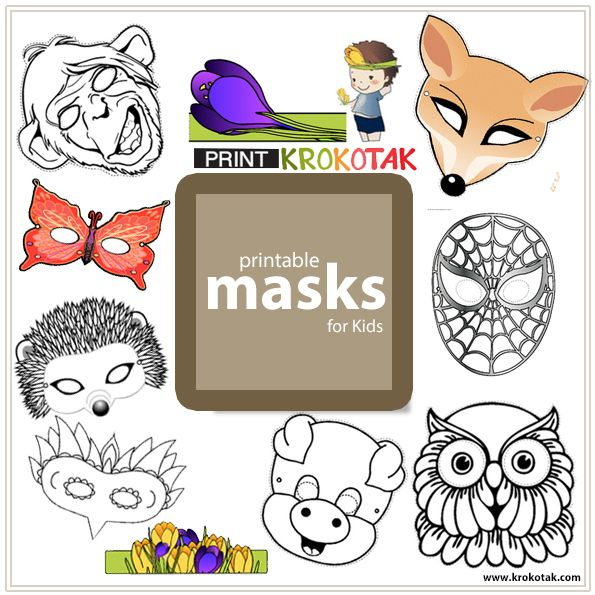 Printable Masks for Kids