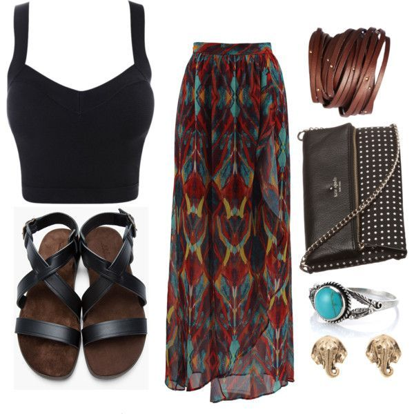 Long skirt outfit #Classic design.#Casually Cool!!!#