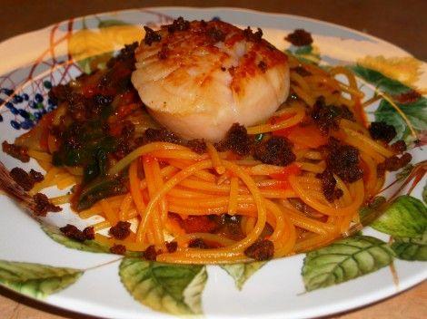 Scallop Pasta with Chorizo Recipe