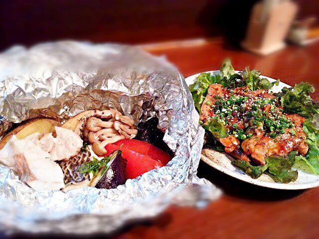 今日のおすすめでした。 あと一人前になったので、まかないにしちゃいました♪ - 50件のもぐもぐ - シルイユー(白身魚)とたっぷり野菜のホイル焼き&マグロステーキ by ichidolushi