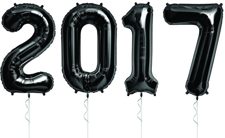 Black Extra-Large 2017 Balloon Banner for your New Year's Eve or Graduation Party Graduation Pictures, New Years, New Year's