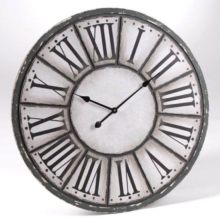Panneau de fibres de densité moyenne Dimensions : Diamètre : 80 cm Couleur : Gris / Blanc Horloge murale Les plus produit : Une horloge grand format Un mélange réussi des...