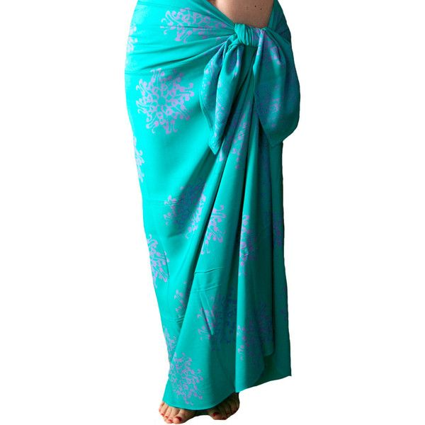 Beach Sarong Pareo Wrap Skirt or Dress Womens Swimsuit Cover Up Batik... ($39) ❤ liked on Polyvore featuring swimwear, cover-ups, grey, women's clothing, crochet bathing suit cover-ups, beach cover ups, swimsuit cover ups, bathing suit cover up and beach sarong