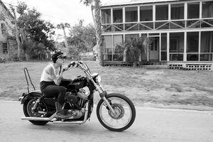 Kissa Von Addams of the Iron Lilies shot by Womens Moto Exhibit Women Who Ride. Harley Davidson