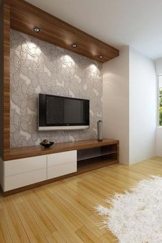 led tv panels designs for living room and bedrooms - Media Wall Design