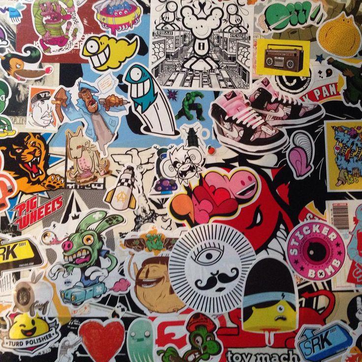 @temperamentall: My is a Sticker arena!  #sticker #case #travelbag  #stickerbomb #bombgram #stickercollection #art #design #travel