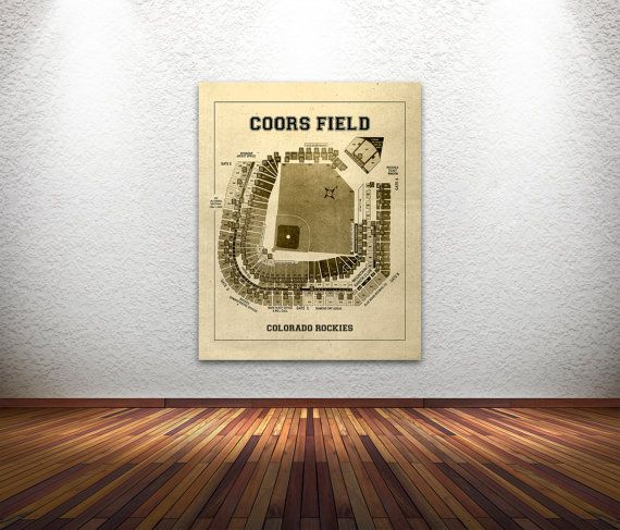 Here is a amazing blueprint of Coors Field ORDER TIME FRAME -Photo and Matte Paper = 1-3 business days processing time -Canvas = 3-5 business days  Product is an image printed on your choice of either photo paper, matte paper, or canvas Color choices Black, Tan, Grey, Light Blue, Dark Blue  PHOTO LUSTER PAPER - Premium High Quality Photo Luster paper used to print professional wedding photography. - Image of choice is printed on photo paper and coated with protected seal to preserve…