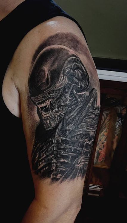 144 best images about H.R. Giger inspired tattoos on ... H.r. Giger Tattoo