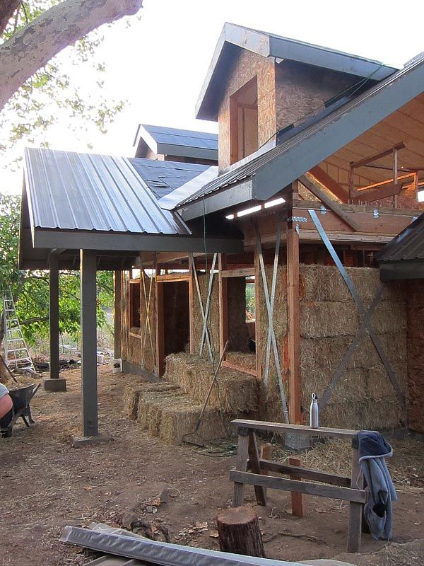Straw bale Workshop Day 3 by Kent Griswold on Tiny House Blog - Living Simply in Small Spaces