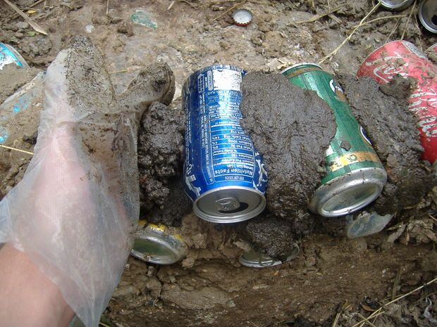 Papercrete and Aluminum Can Wall.  I think hypertufa or adobe with cans or bottles for my secret garden wall. (similar to the courtyard at 5208 Ironwood)