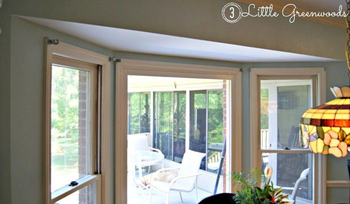 17 best ideas about window curtain rods on pinterest bay - Curtains for a bay window ...