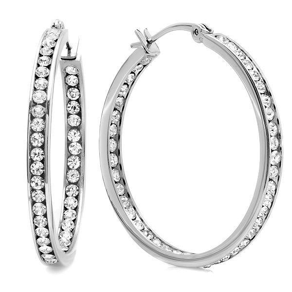 Silver Napa Hoop Earrings - Just $9.99