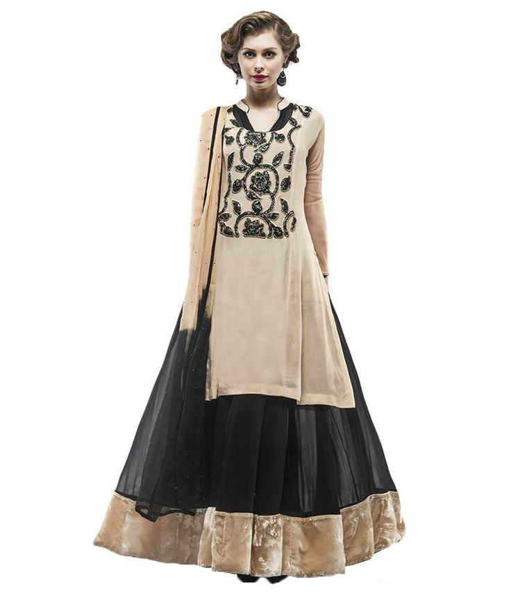 Samor Anarkali Double Suit With A Georgette Kurta On Top, http://www.snapdeal.com/product/samor-anarkali-double-suit-with/384598708