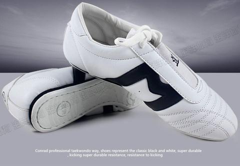 Classic Taekwondo shoes adult child Soft martial arts shoes for training karate kick boxing