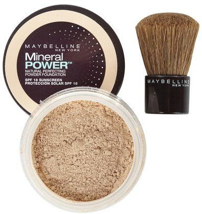 Mineral Power Powder Foundation.  I like the powder cuz it doesn't make your face feel all greasy like the liquid does.