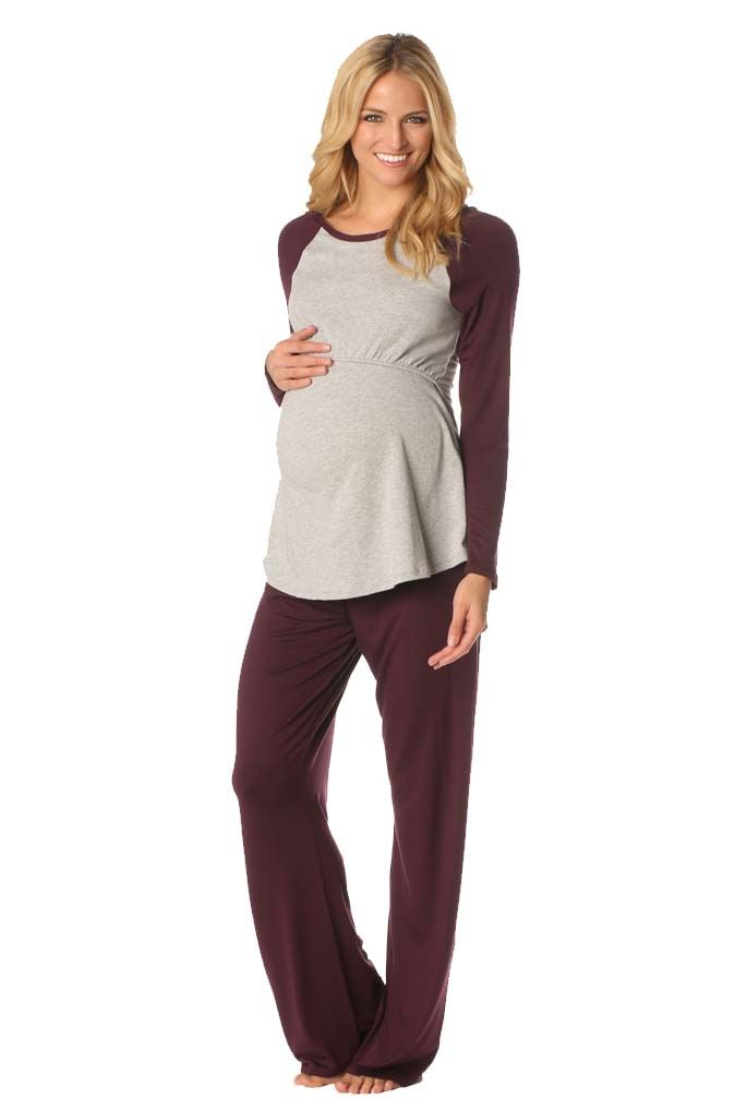 Majamas Pastime Maternity Nursing Lounge Pajama Set | Nursing Apparel