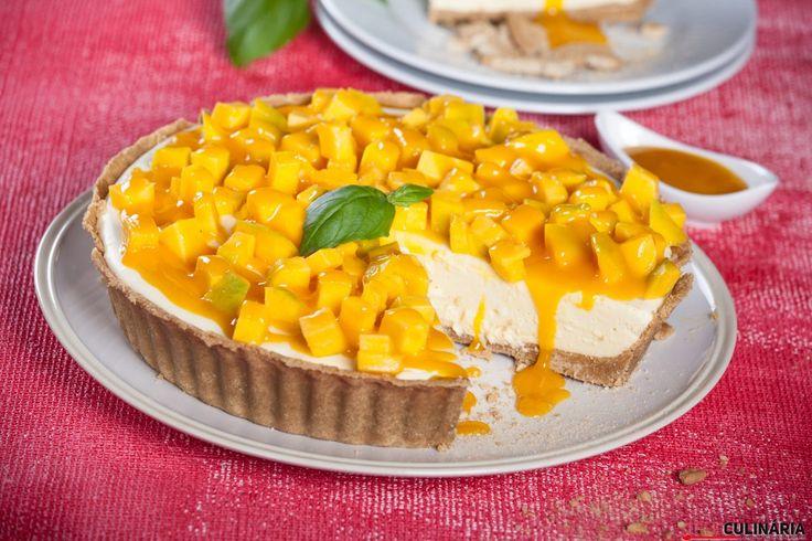 Receita de Receita de tarte de manga. Descubra como cozinhar Receita de tarte de manga de maneira prática e deliciosa com a Teleculinária!