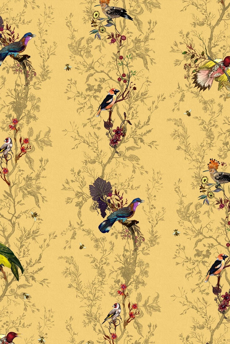 26 Best Wallpaper Images On Pinterest Fabric Wallpaper