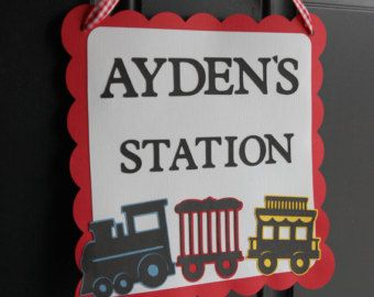 Train Door Sign Train Party Train Party Supplies by GiggleBees
