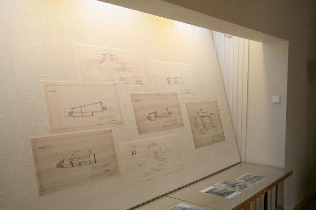 Alvar Alto's Office:  Pin-up space.