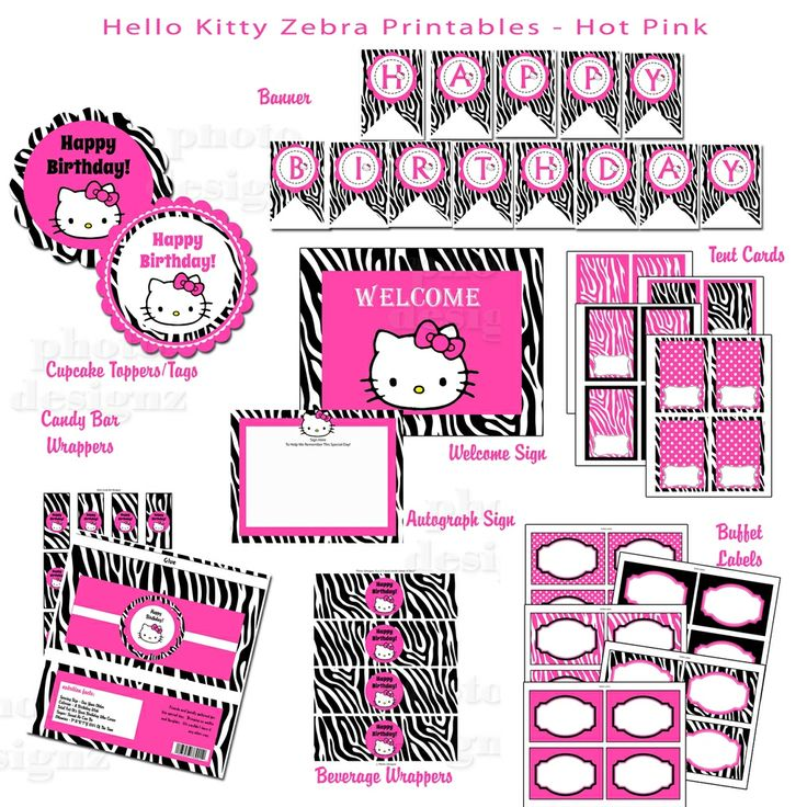 200 Best Images About Hello Kitty Birthday Printables On