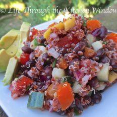 Red Quinoa & Black Bean Salad with Mango