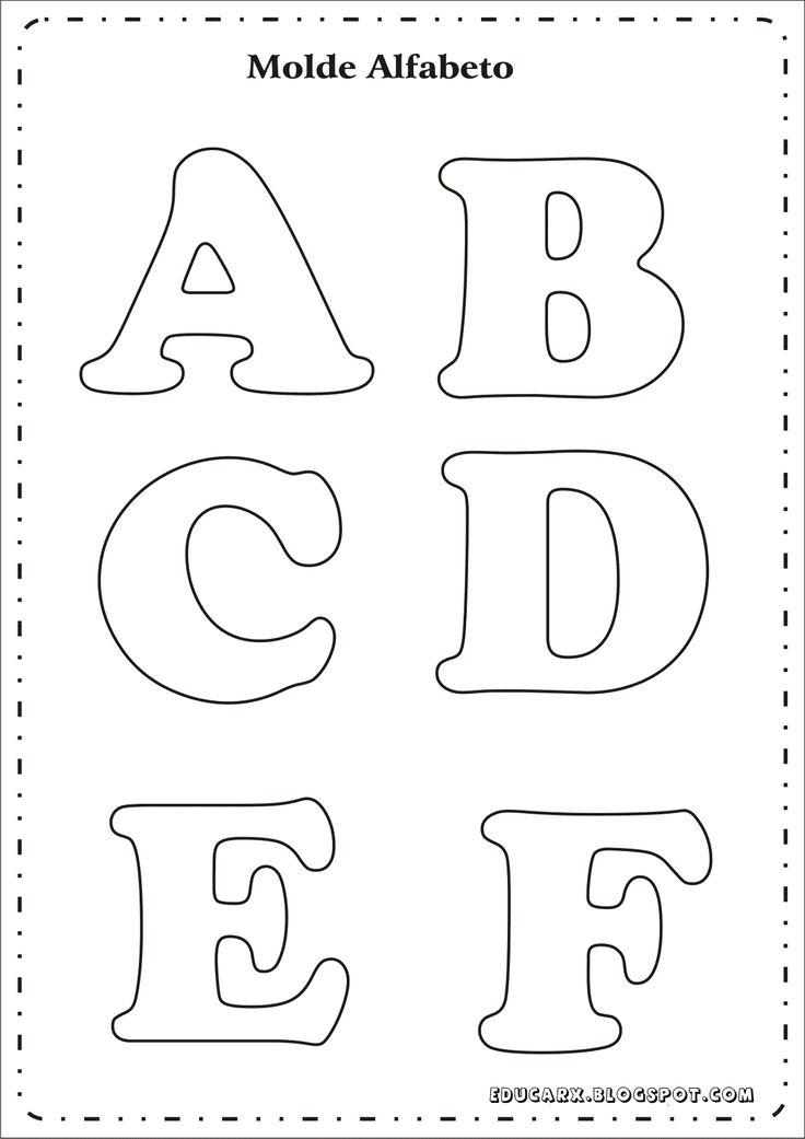 Educar X: Molde de letras para mural