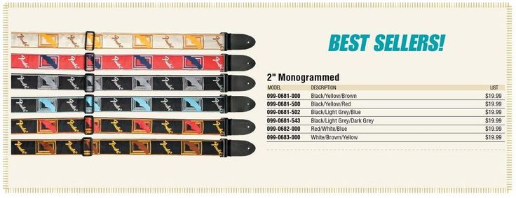 Best selling guitar straps #ClippedOnIssuu from 2015 Fender Parts & Accessories Price List