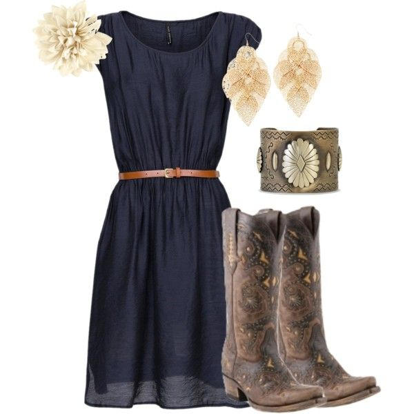 """""""Vintage cowgirl"""" ..... But minus the cowboy boots. I would just do brown knee high boots"""