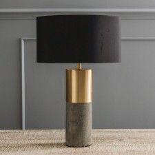 Concrete & Brass Lamp