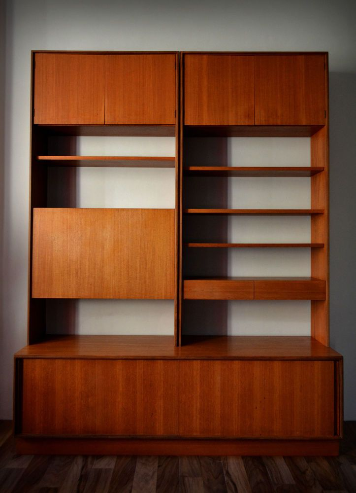 Vintage G Plan Form Five 3 Piece Teak Modular Wall Unit Bookcase 1960s Retro In Home