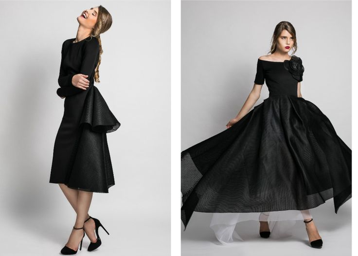 Chic, elegant, minimalistic and feminine dresses for day, cocktail & evening occasions by Ludmila Corlateanu.