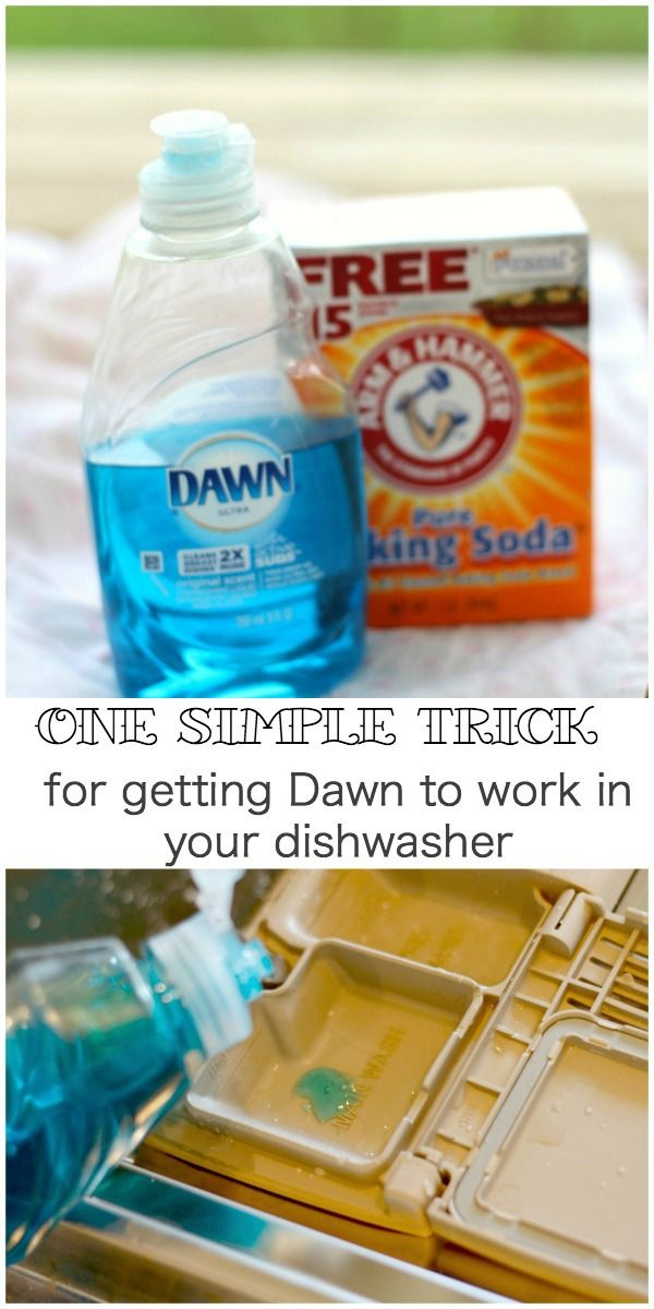 An easy recipe for homemade dishwasher soap with only two ingredients.