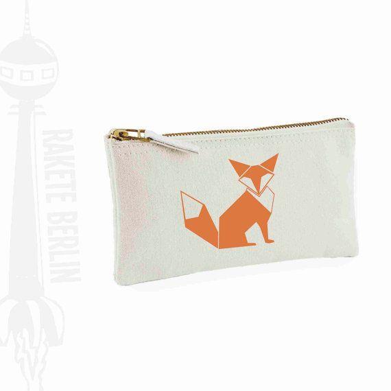 Federtasche Mäppchen 'Fuchs geometrisch' von RaketeBerlin auf Etsy