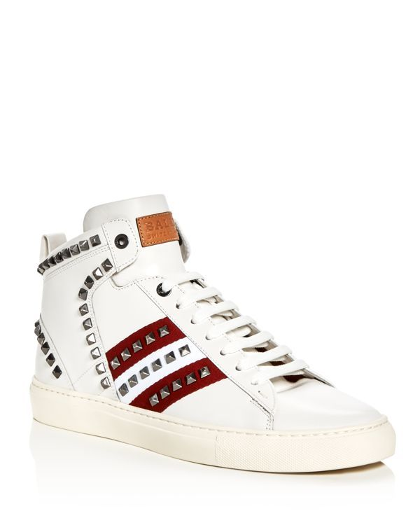 Bally Men's Hedern Studded High Top Sneakers
