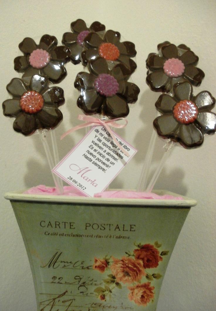 Flores de chocolate de Palermo Dulce