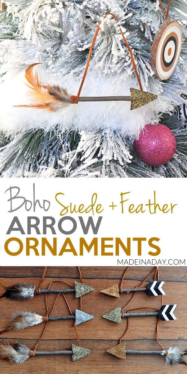 Leather Feather Arrow #Ornaments, #arrow, feather…