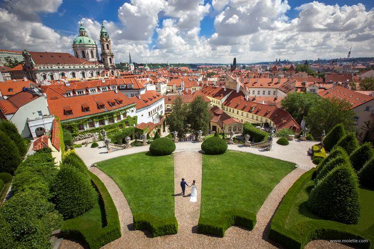 Vrtba Garden. One of the most precious and beautiful of Prague's Baroque gardens. #prague #wedding #weddingphotographer #praguewedding #pragueweddingphoto
