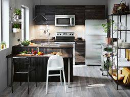 La cuisine que se veut invitante, décontracte et fonctionnelle