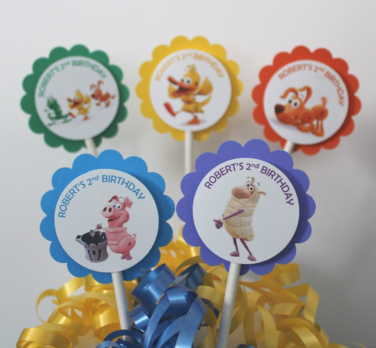 Personalized Word World Cupcake Party Toppers Picks - Custom. $9.50, via Etsy.