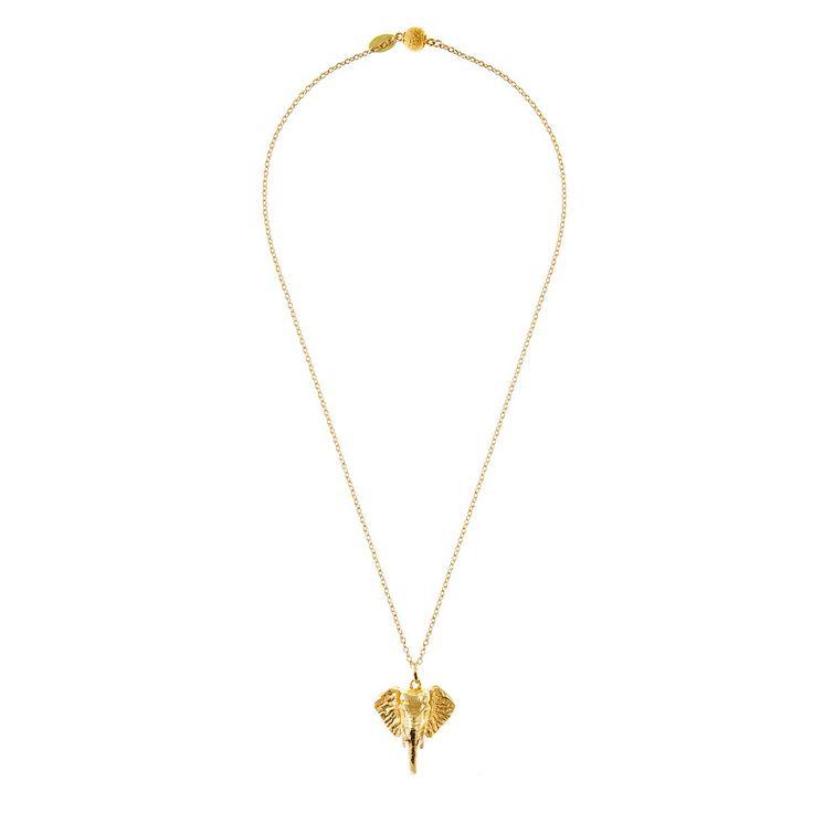 Elephant pendant gold