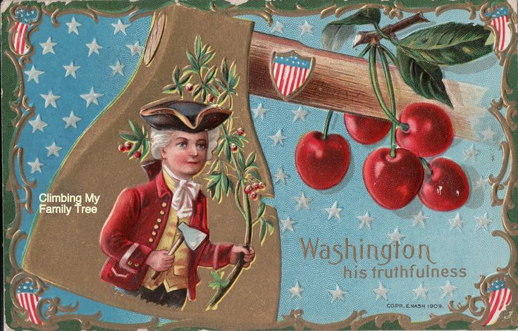 My husband's uncle received this penny greeting card in the 1910s, celebrating President George Washington's birthday.