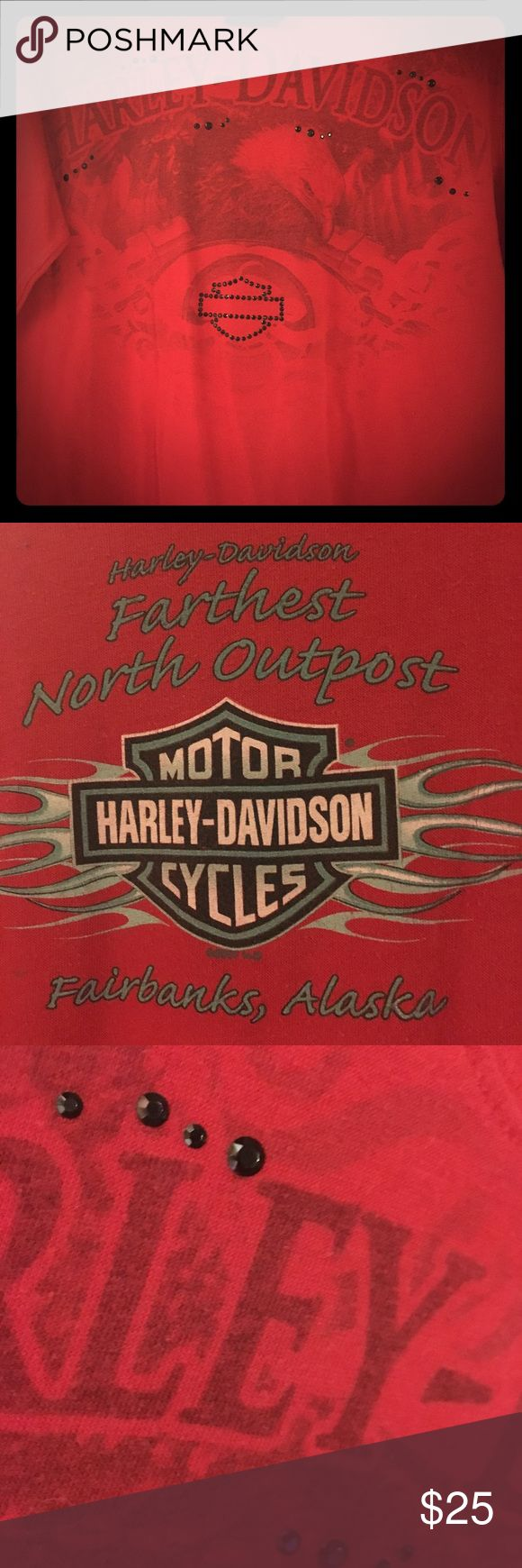 Harley Davidson Shirt Ladies, medium, long sleeve, HD shirt! AND, it's from the northern most Harley Davidson shop in the country... Fairbanks, Alaska!! 🎅🏻🤶🏻🐧❄️☃️ Harley-Davidson Tops Tees - Long Sleeve