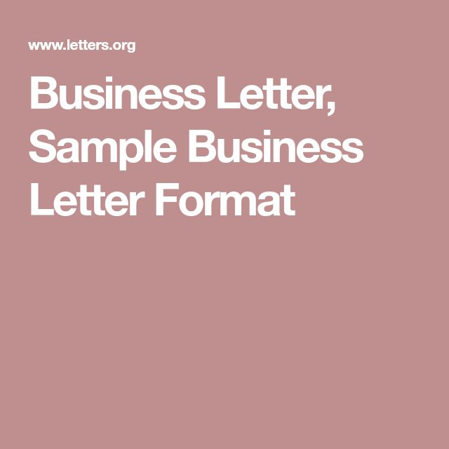 The 25+ best Business letter sample ideas on Pinterest Business - sample business letters format
