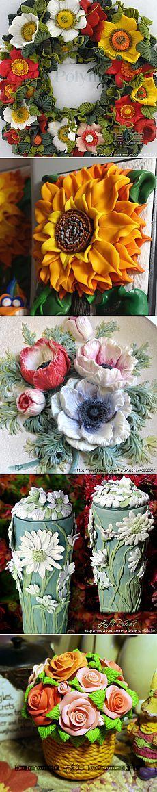 Flowers of salt dough
